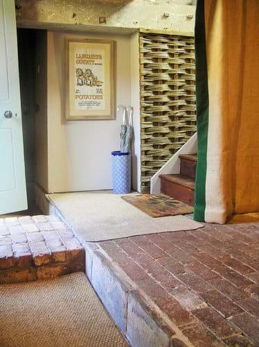 Inside entrance - the original brick floors