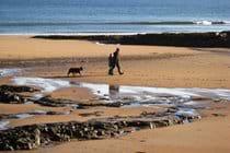 Walking on Embleton beach