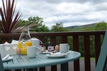Breakfast on the front deck