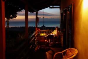 Veranda after sunset