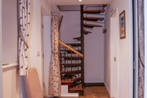 The ground floor hallway - spriral staircase between floors