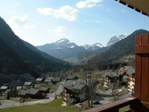 View west from balcony in spring, towards La Chapelle d