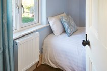 The Blue Room - with our cosy single bed