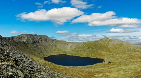 Helvellyn and Striding Edge is one of the many walks you can do from the cottage door.  No need to move the car.