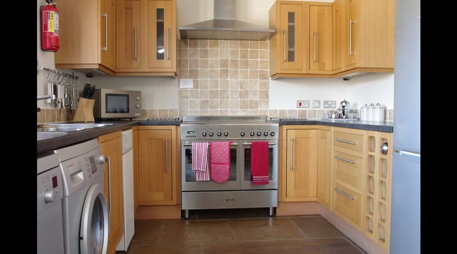 Stainless Steel Range Cooker in Kitchen