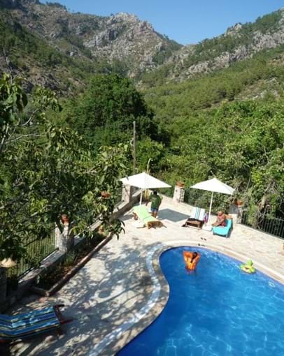 Pool and valley views from one of the balconies