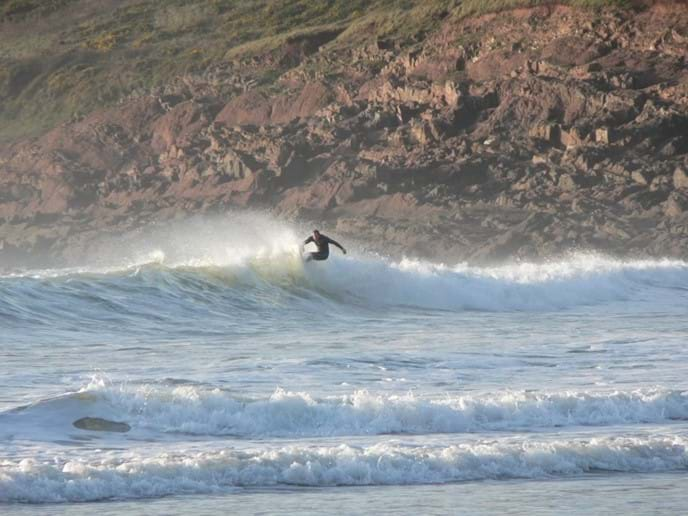Surf's up at Manorbier