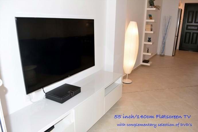 "Huge 55"" Flat-Screen TV"
