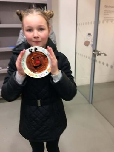 Savannah and her Paint a Plate at the National Glass Centre