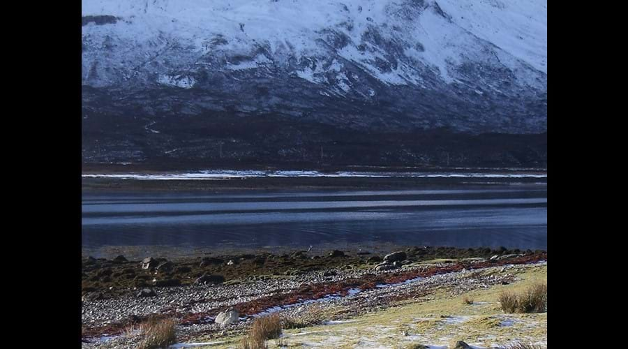Winter colours on Loch Slapin.