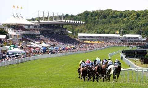 Horse racing at Goodwood.