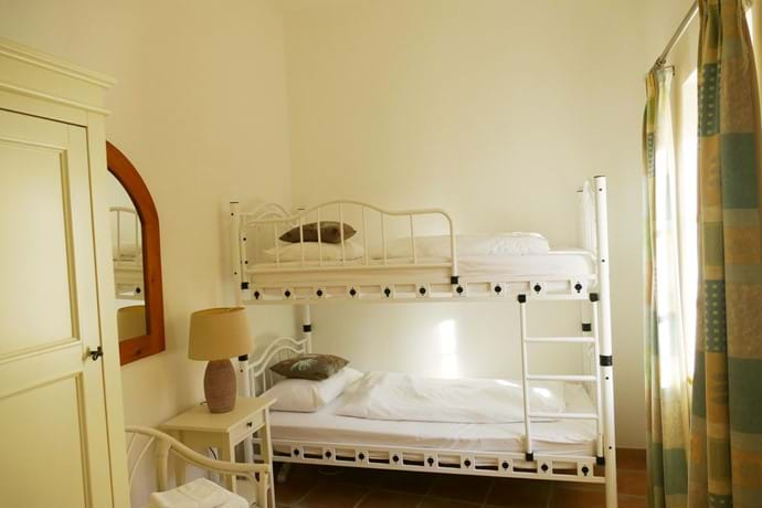 Bedroom Two has full size (adult) bunk beds