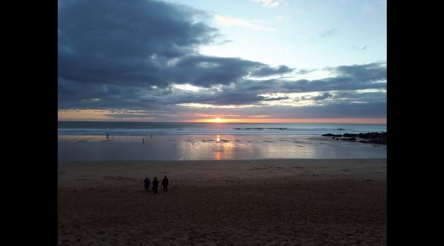 Sunset at Fistral Beach, Newquay