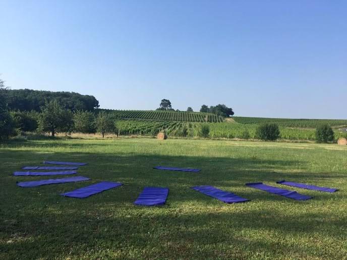 Morning outdoor Yoga