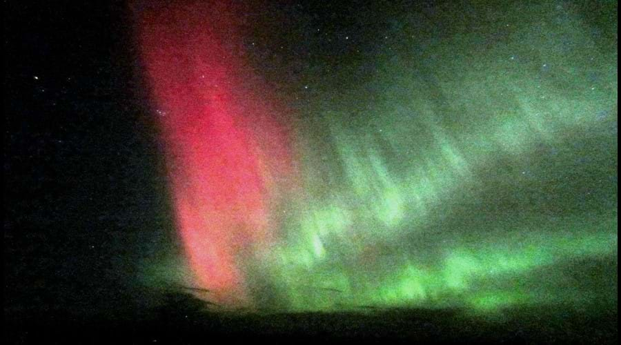 Aurora Borealis, the Northern lights are an advantage of the longer winter nights