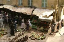 Filming in Sarlat