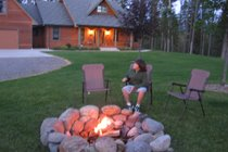 Evenings by the campfire just steps out the front door
