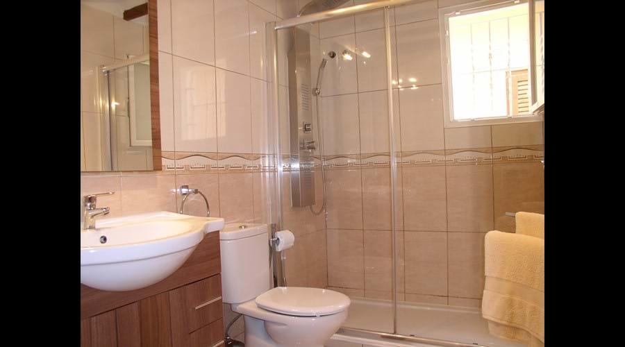 Stylish bathroom with Spa Shower