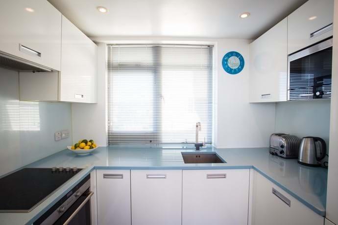 Bespoke Italian blue granite kitchen