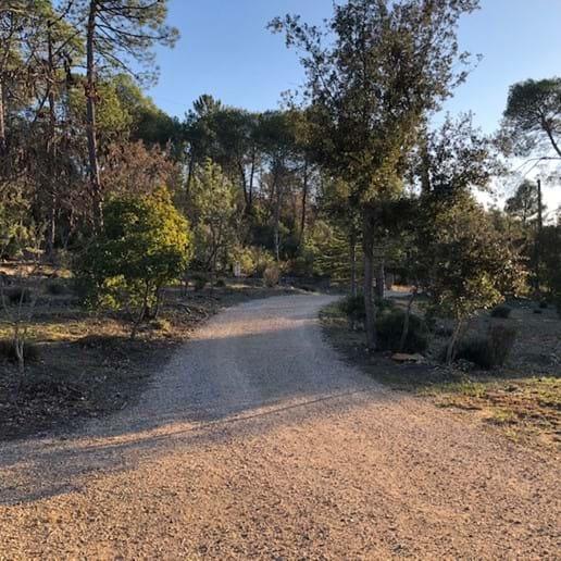 Driveway into La Bastide de Correns