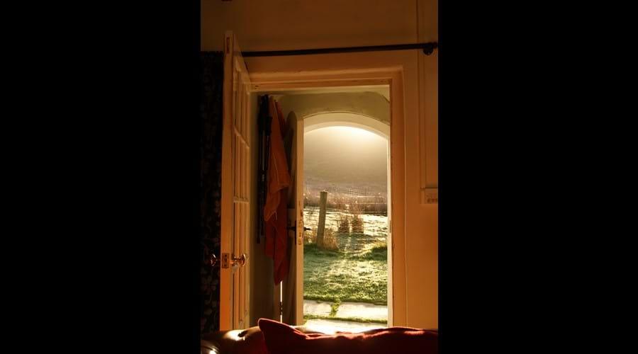 Sunrise through the front door