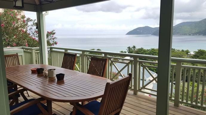 with lovely views out over Long Bay