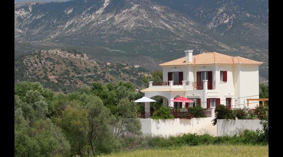 Villa Jasmine from across the fields