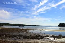 Beautiful beaches and coves lie opposite Fairy Hill Cotage