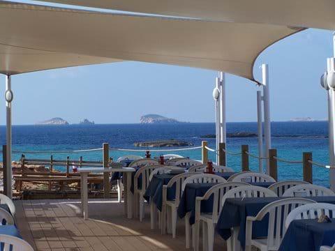 Beach restaurant at Cala Conta