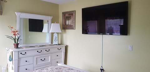 """New furniture, luxury bedding and 55"""" television"""