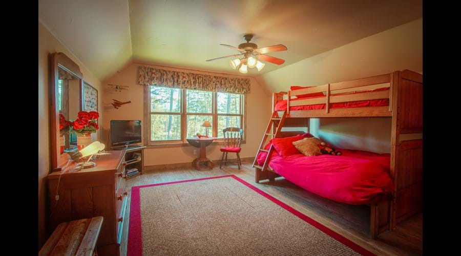 Large upstairs bedroom with TV/DVD and best view!