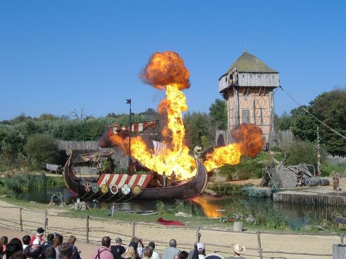 Puy du Fou - (40 mins from villa) Fantastic day or evening shows for all ages. Villages from different eras Gladiators doing battle and Vikings launching attacks on fortified castles. www.puydufou.com