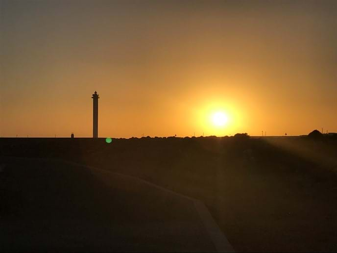 Sunset over the lighthouse - a must see