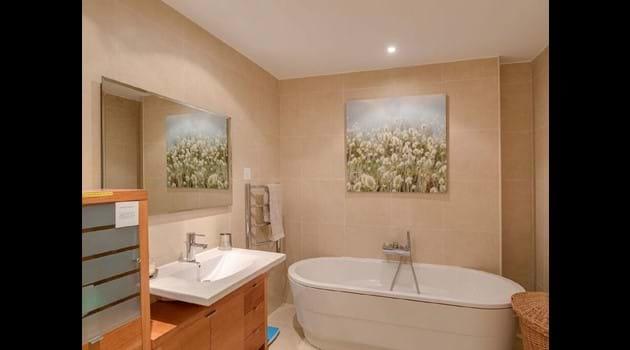 Palm Villa family bathroom is facing Bedroom 2