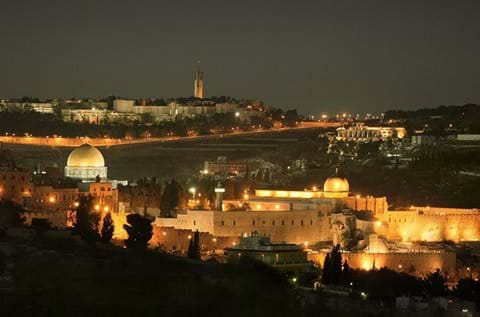 Old City with Mt of Olives beyond