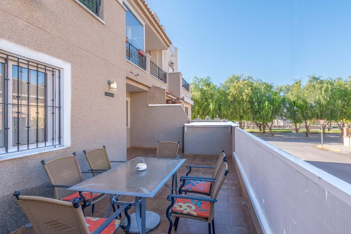 Spacious patio area, safe and secure and an ideal environment for young children