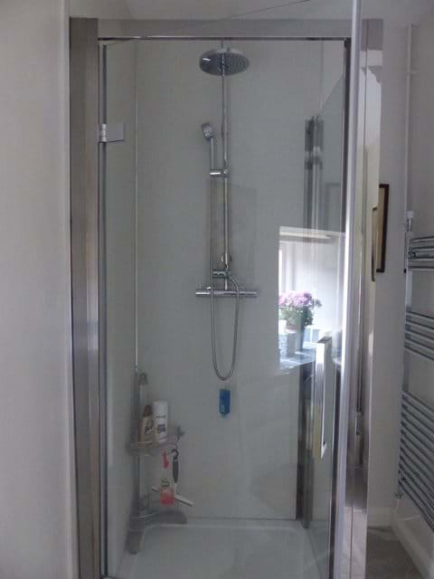 Shower enclosure downstairs