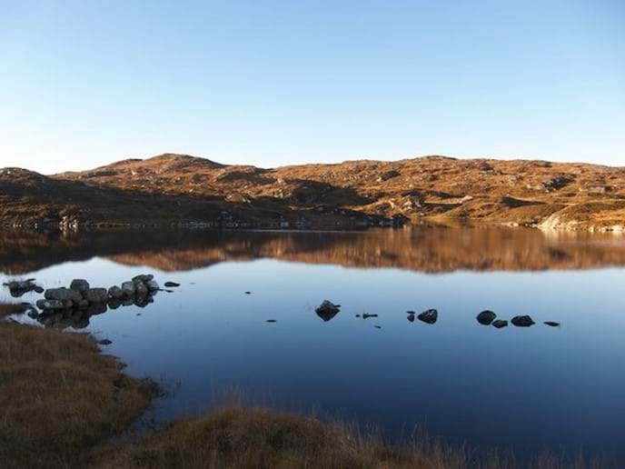 Loch opposite the house, winter