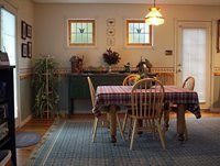 Dining Room table can be expanded to accomodate 8 people