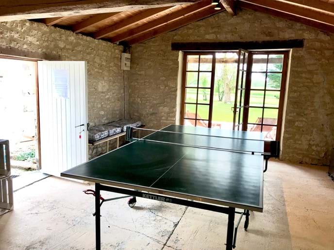 Large, open games house.