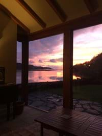 Sunset view from the garden room.