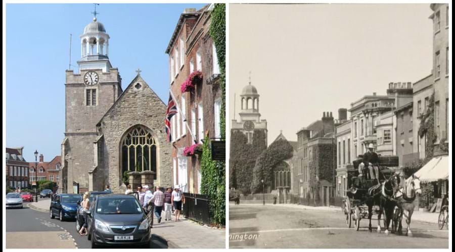 Georgian Lymington - now and then.