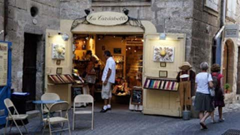 Pézenas old town - a maze of streets, restaurants, and shops