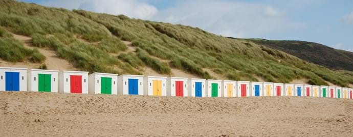Woolacombe beach huts (mid May - early September)