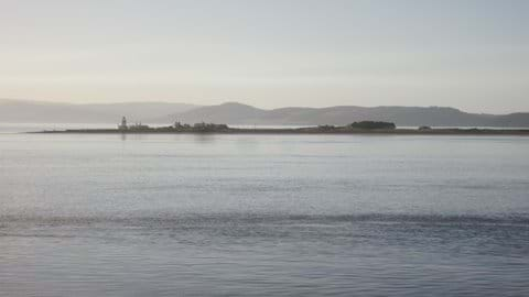 This photo was taken a short walk from the cottage and is of the Black Isle and Chanonry Point