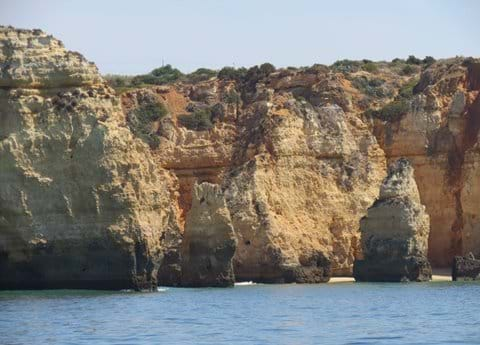 Lagos cliffs from boat