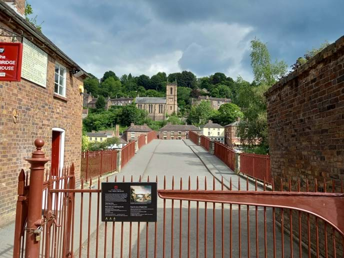 THE TOLL HOUSE - LOOKING ON THE IRON BRIDGE