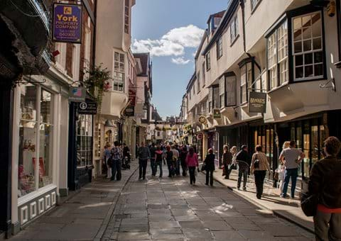 A Typical Shopping Street in York