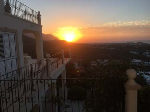 Sunset from the terraces