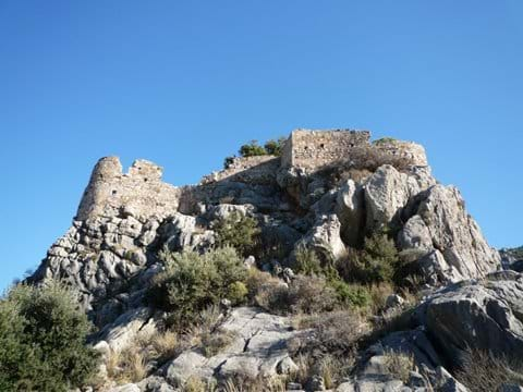 Selimiye Castle, high above the village